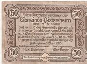 50 Heller (Aistersheim) – revers