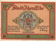 50 Pfennig (Aken) – avers