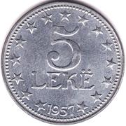 5 lek (République populaire socialiste) – revers
