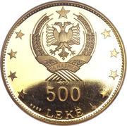 500 Leke (République) – avers