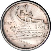 1 frang ar (Royaume) – revers