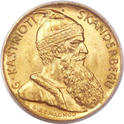 20 franga ari (Royaume) – avers