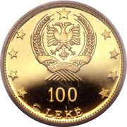 100 leke (République populaire socialiste) – avers