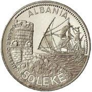 50 leke (Port de Durazzo) – revers