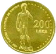 200 Leke (Le David de Michel-Ange) – avers