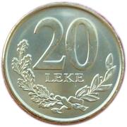 20 Lekë 2012 (Magnétique) -  revers