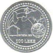 100 Lekë (Intégration dans l'Europe) – revers