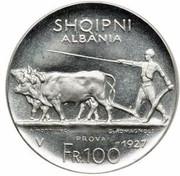 100 franga ar (Royaume) – avers