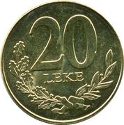 20 lekë (République) – revers