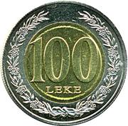 100 leke (République) – revers
