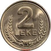 2 leke (république populaire socialiste) – revers