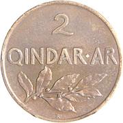 2 qindar Ari (Royaume) – revers