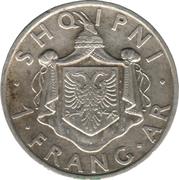 1 frang Ar (Royaume) -  revers