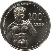 100 leke (Le David de Michel-Ange) – revers
