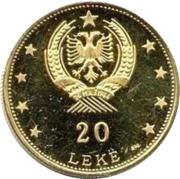 20 leke (Prince Skanderbeg) – revers