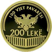 200 Leke (Indépendance) – revers