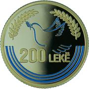 200 Leke (Mère Teresa) – revers