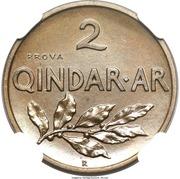 2 Qindar Ari - Zog I (Essai) – revers