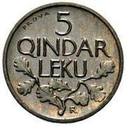 5 Qindar Leku (Prova) – revers