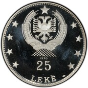 25 leke (Liga Lissi) – revers