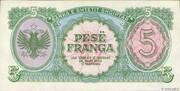 5 Franga – revers