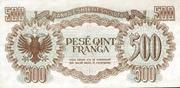 500 Franga – revers