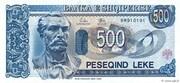 500 Leke – avers