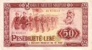 50 Leke – avers