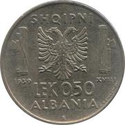 0.5 lek (occupation italienne) – revers