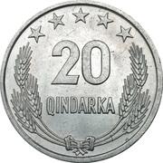 20 qindarka (République populaire socialiste) -  revers