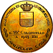 Medal - Military succesess of Colonel Scarpa in Albania – avers