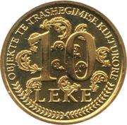 10 leke (République) – revers