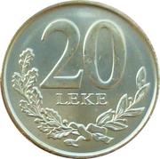 20 lekë 2012 (Magnétique) – revers