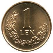 1 lek (République) – revers