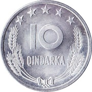 10 qindarka (République populaire socialiste) -  revers