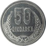 50 qindarka (République populaire socialiste) – revers