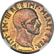 0.05 Lek - Vittorio Emanuele III (Essai) – avers