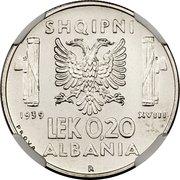 0.20 Lek - Vittorio Emanuele III (Essai) – revers