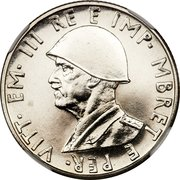 0.50 Lek - Vittorio Emanuele III (Essai) – avers