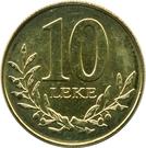10 lekë (République) – revers