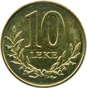 10 lekë (République) -  revers