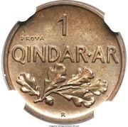 1 Qindar Ar - Zog I (Essai) – revers