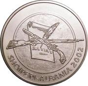 100 Lekë (90e Anniversaire de la déclaration d'indépendance) – avers