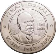 100 Lekë (90e Anniversaire de la déclaration d'indépendance) – revers