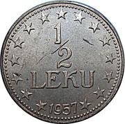 ½ lek (république populaire socialiste) – revers