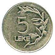 5 lekë (République) -  revers