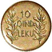 10 qindar leku (Royaume) – revers