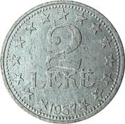 2 lekë (République populaire socialiste) -  revers