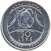 50 leke République – revers