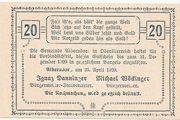 20 Heller (Alberndorf) – revers